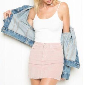 brandy melville pink skirt curdoroy